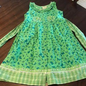Girls Cornelloki Butterfly Dress, Size 3/4.